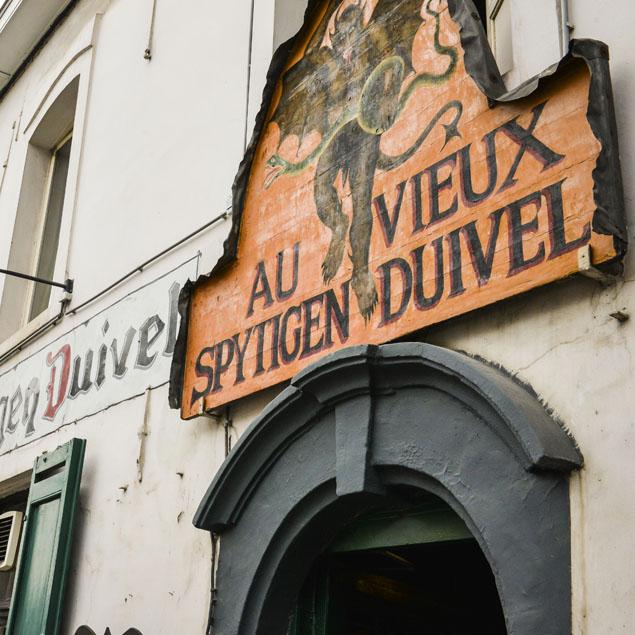Au Vieux Spijtigen Duivel - Les origines Histoire