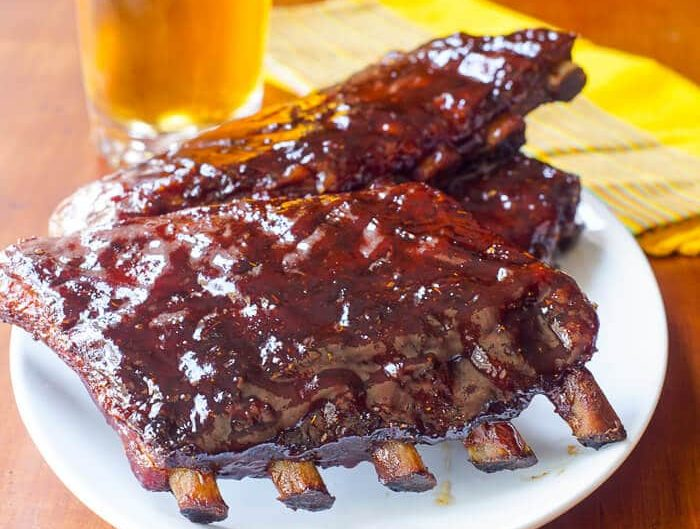 Honey et barbecue sparibs